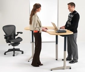 example of standing desk